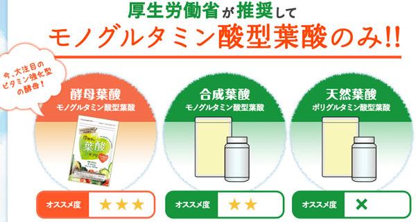 使用している葉酸の種類