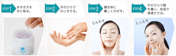 顔への使い方