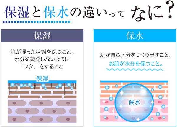 保水と保湿の差