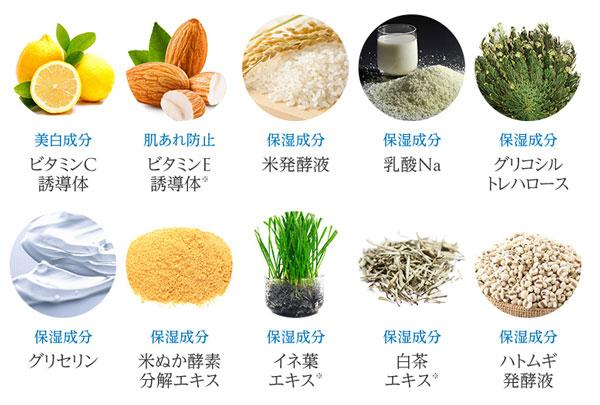 10種類の美白成分