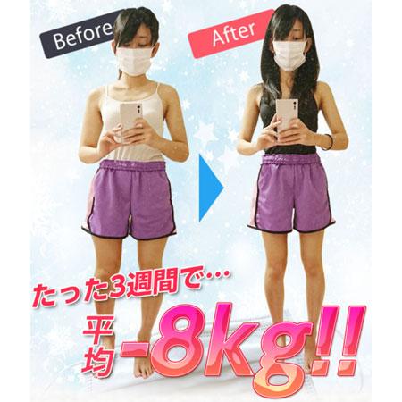 3週間で-8kg