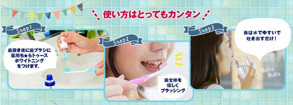 毎日の歯磨きに使うだけ